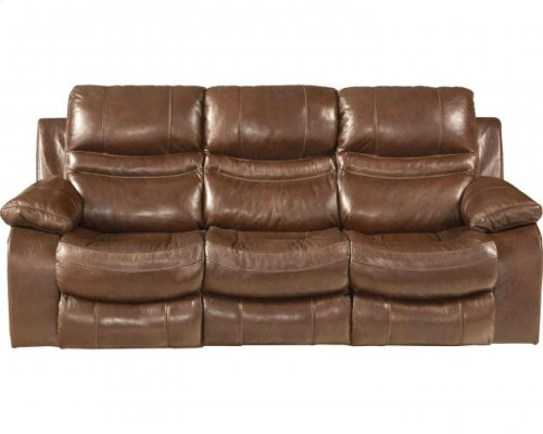 CATNAPPER 64249 Patton Top Gran Leather Touch Power Lay Flat Reclining Sofa
