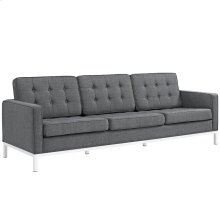 Loft Upholstered Fabric Sofa in Gray