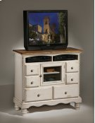 Wilshire TV Chest Antique White Product Image