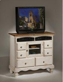 Wilshire TV Chest Antique White