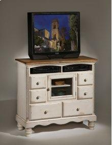 Wilshire TV Chest Antique White