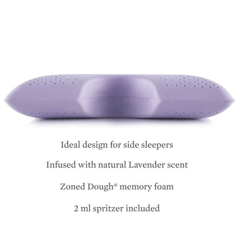 Shoulder Cutout Pillow+ Lavender, Queen