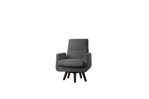 Swivel Chair, Dark Brown Gray