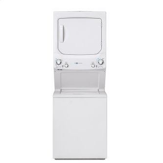 GE Unitized Spacemaker™ 3.9 DOE cu. ft. Capacity Washer and 5.9 cu. ft. Capcity Electric Dryer White - GUD27EEMNWW