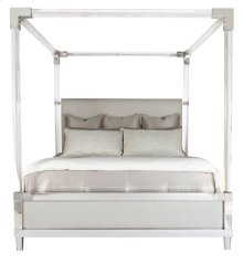 King-Sized Rayleigh Acrylic Canopy Bed