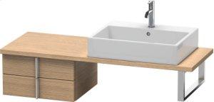 Vero Low Cabinet For Console Compact, European Oak (decor)