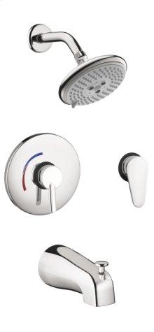 Chrome Focus S Shower System Combination Set