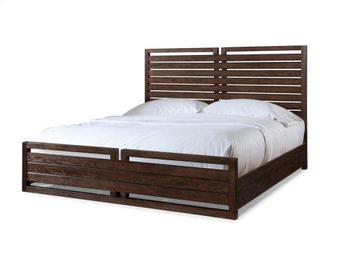 Hampton Panel Bed - Black Tea