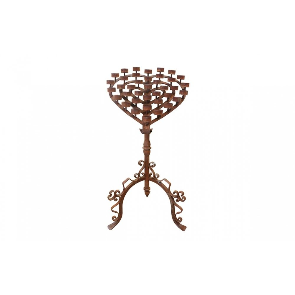 Factory 4 Rustic Large Heart Candelabra