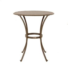 "Island Breeze Slatted Aluminum 36"" Round Pub Table"