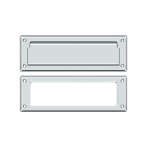 "Mail Slot 8 7/8"" with Interior Frame - Polished Chrome"