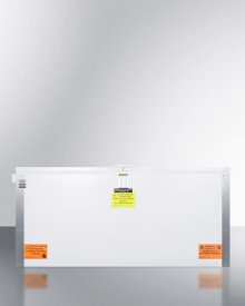 Laboratory Chest Freezer Capable of -30 C (-22 F) Operation With Dual Blue Ice Banks