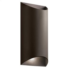 Wesley Collection Wesly 2 Light LED Outdoor Wall Light AZT