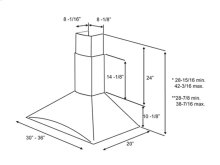 "Optional Long Chimney Extension Kit for 9 0"" - 12 0"""