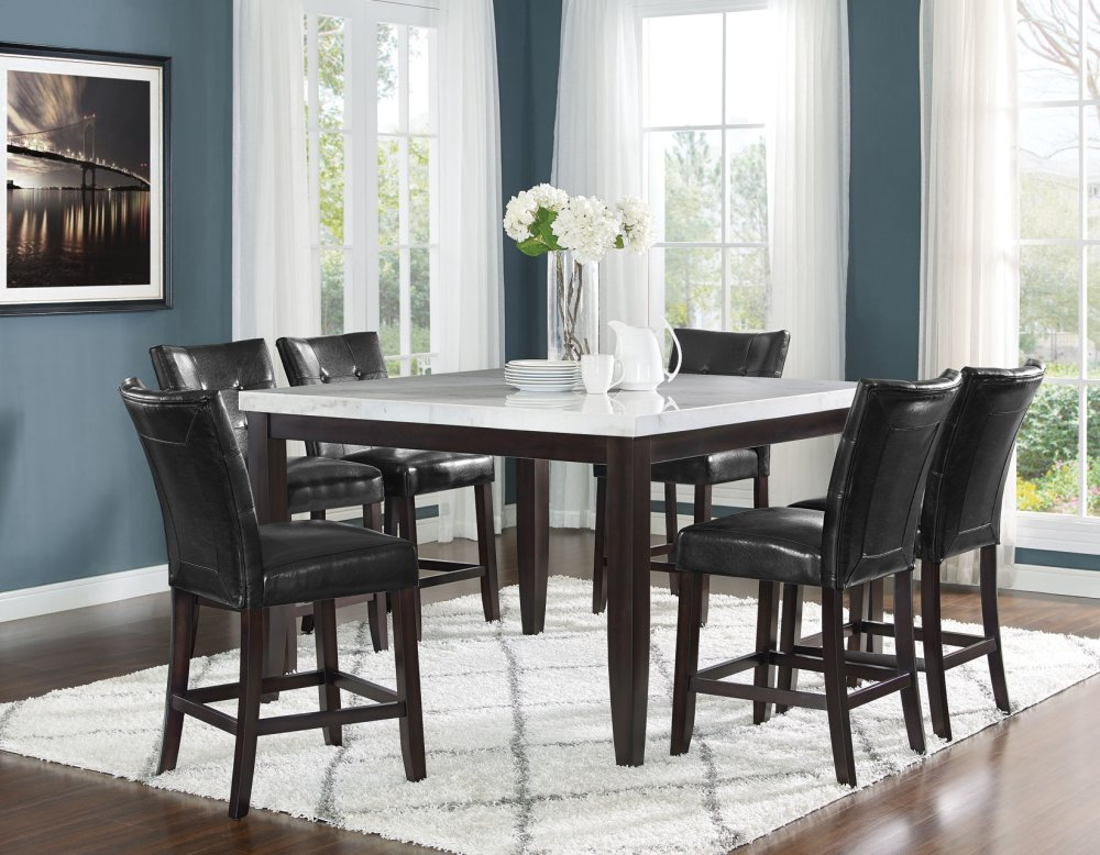 Fc5454mtsteve Silver Co Francis Square White Marble Table