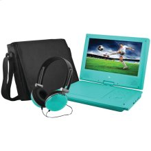 "9"" Portable DVD Player Bundles (Teal)"