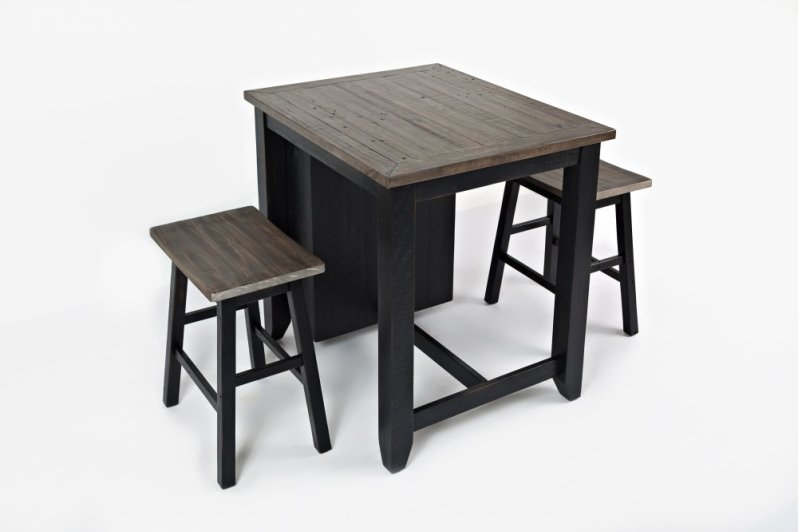 Madison County 3pc Counter Height Set - Vintage Black - 170236 In By Jofran In Waldoboro, ME - Madison County 3pc Counter