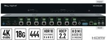 2x8 4K/18G POH/HDBT/HDMI Distribution Amplifier/Switcher with Audio De-Embedding (Includes KIT 8 Rx 100m Meters Extenders)