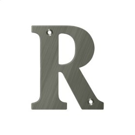 """4"""" Residential Letter R - Antique Nickel"""