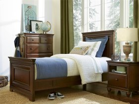 Panel Bed (Twin) - Classic Cherry