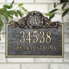 Acanthus Monogram Standard Wall Two Line Antique Brass Product Image