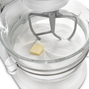 Professional 6500 Design Series 6 Quart Bowl-Lift Stand Mixer - Frosted Pearl White