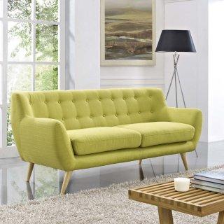 Remark Upholstered Fabric Sofa in Wheatgrass