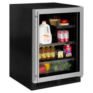 Marvel24-In Built In Beverage Refrigerator with Door Style - Stainless Steel Frame Glass, Door Swing - Right