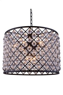 """1204 Madison Collection Chandelier D:27.5"""" H:21"""" Lt:8 Mocha Brown Finish (Royal Cut Crystals)"""