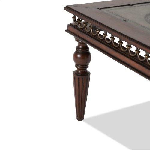 Crusade Rectangular Cocktail Table W/decorative Apron