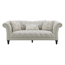 Emerald Home Hutton II Sofa Nailhead With 3 Pillows Off White U3164-00-29
