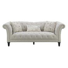 Emerald Home Hutton II Sofa Nailhead With 3 Pillows Off White U3164-00-29