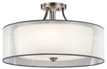 Lacey 5 Light Semi Flush Antique Pewter