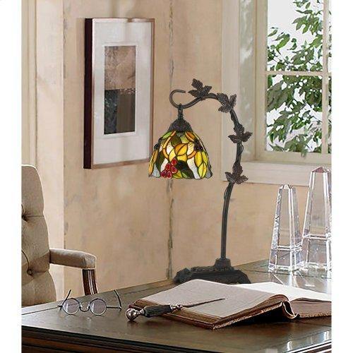 60W Cotulla Downbrdige Tiffany Metal Table Lamp