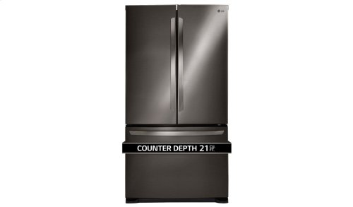 LG Black Stainless Steel Series 21 cu. ft. 3-Door French Door Counter-Depth Refrigerator