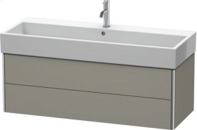 Vanity Unit Wall-mounted, Stone Gray Satin Matt Lacquer