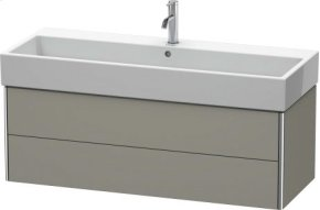 Vanity Unit Wall-mounted, Stone Grey Satin Matt Lacquer