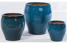 Midnight Lola Planter - Set of 3