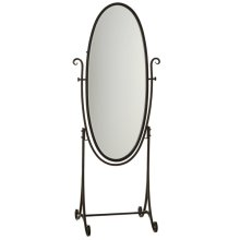 Black Cheval Mirror on Stand