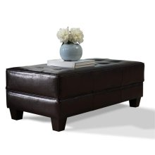 Storage Ottoman Bradford Brown Synthetic Leather