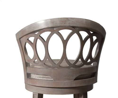 Adelyn Swivel Counter Stool - Graywash Wood With Putty Gray Fabric