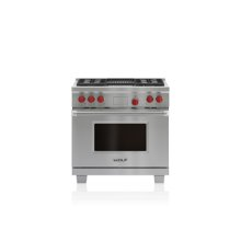 """36"""" Dual Fuel Range - 4 Burners and Infrared Charbroiler"""