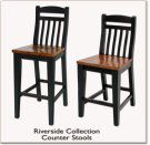"30"" Slat Back Counter Stool Product Image"