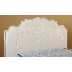 Queen Embroidered Headboard