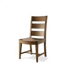 Hawthorne Wood Seat Side Chair Barnwood finish