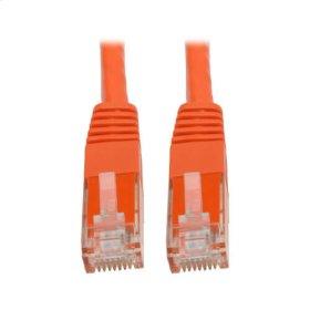 Premium Cat5/5e/6 Gigabit Molded Patch Cable, 24 AWG, 550 MHz/1 Gbps (RJ45 M/M), Orange, 35 ft.