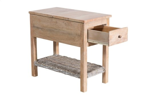 Accent Table, Available in Washed Texture Finish Only.