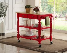 Payson Red Kitchen Cart