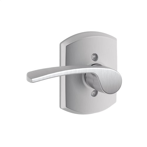 Merano Lever with Greenwich Trim Non-Turning Lock - Satin Chrome
