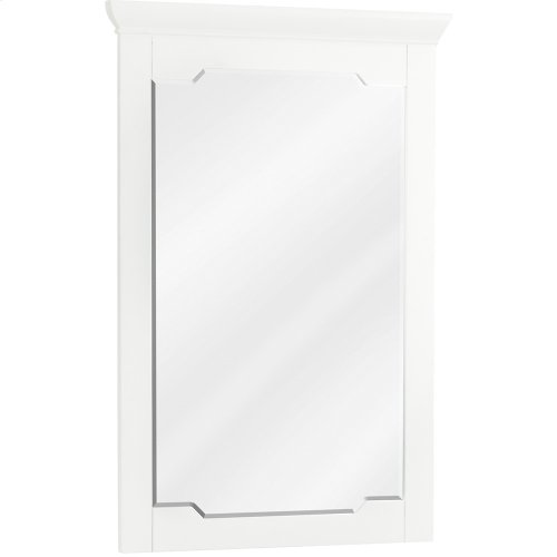 "22"" x 34"" White mirror with beveled glass"